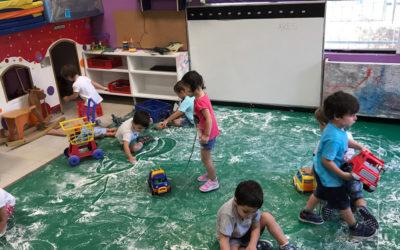 Los niños y niñas de 3 años nos vamos adaptando al colegio