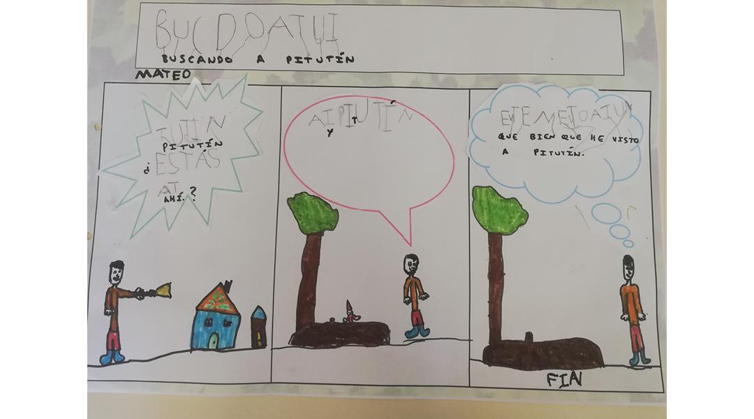 La granja en un comic