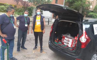 Donación de alimentos de la cocina del colegio a San Blas y Vallecas