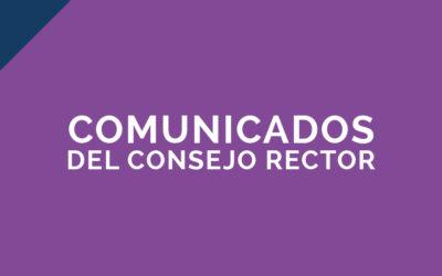 Comunicado Consejo Rector – 22/12/2020