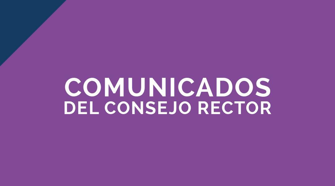 Comunicado Consejo Rector, Dirección y Gerencia