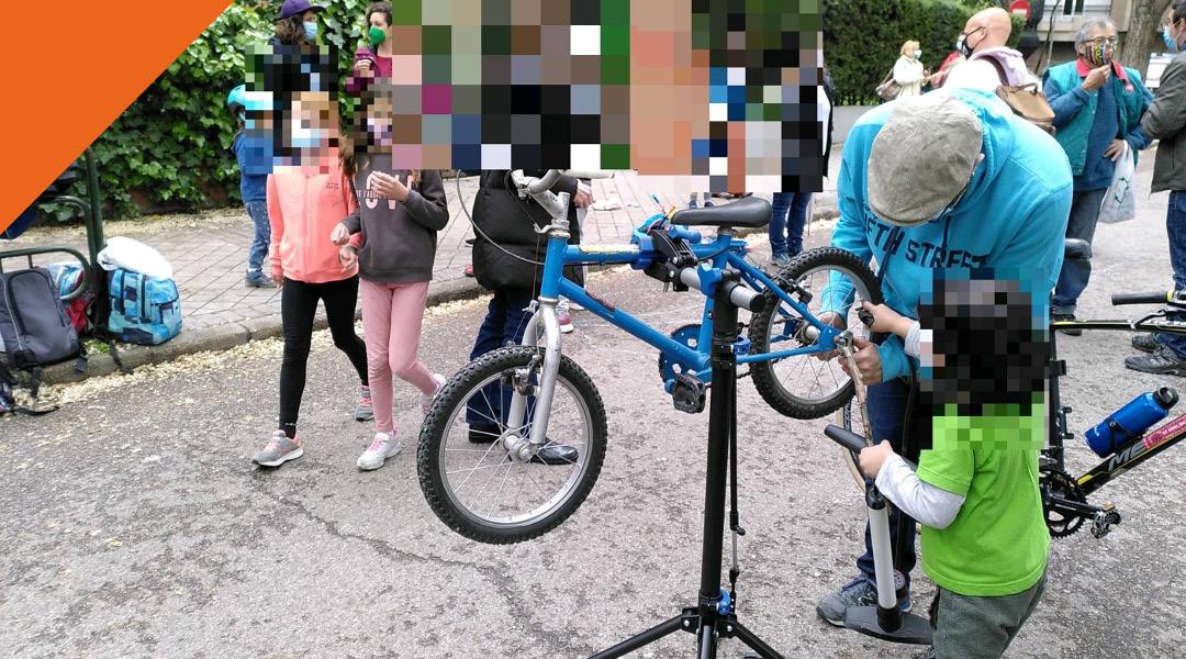Adelantamos el taller de autorreparación y escuela de bicis